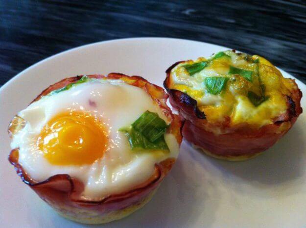 Eier-Nest Frühstück-Rezepte