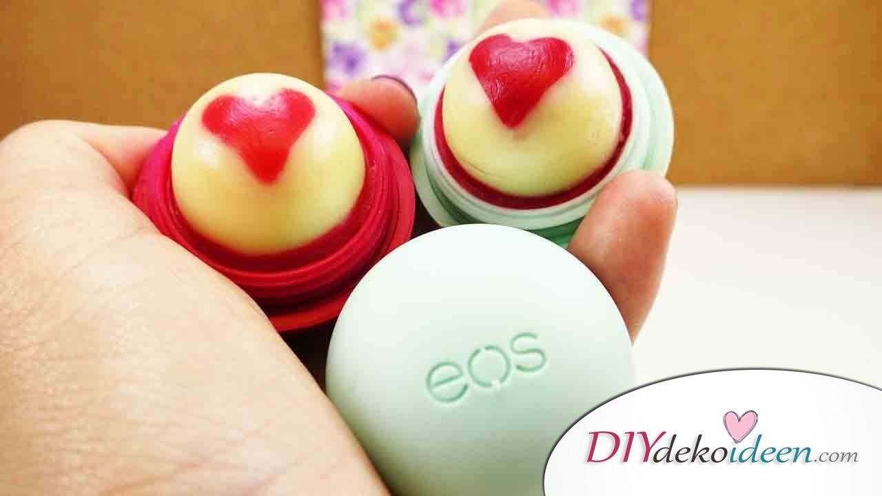 berrasch dich mit einem wunderbaren diy eos lipbalm mit herz. Black Bedroom Furniture Sets. Home Design Ideas