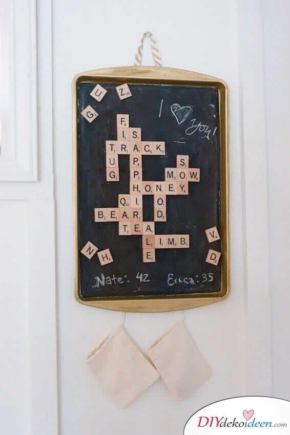 DIY Bastelideen mit Scrabble Buchstaben