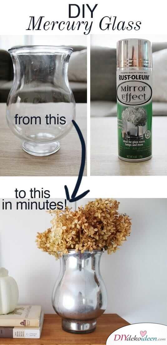 Coole Farbspray Ideen, mit der du eine Menge Geld sparen kannst - DIY Mercury Glas