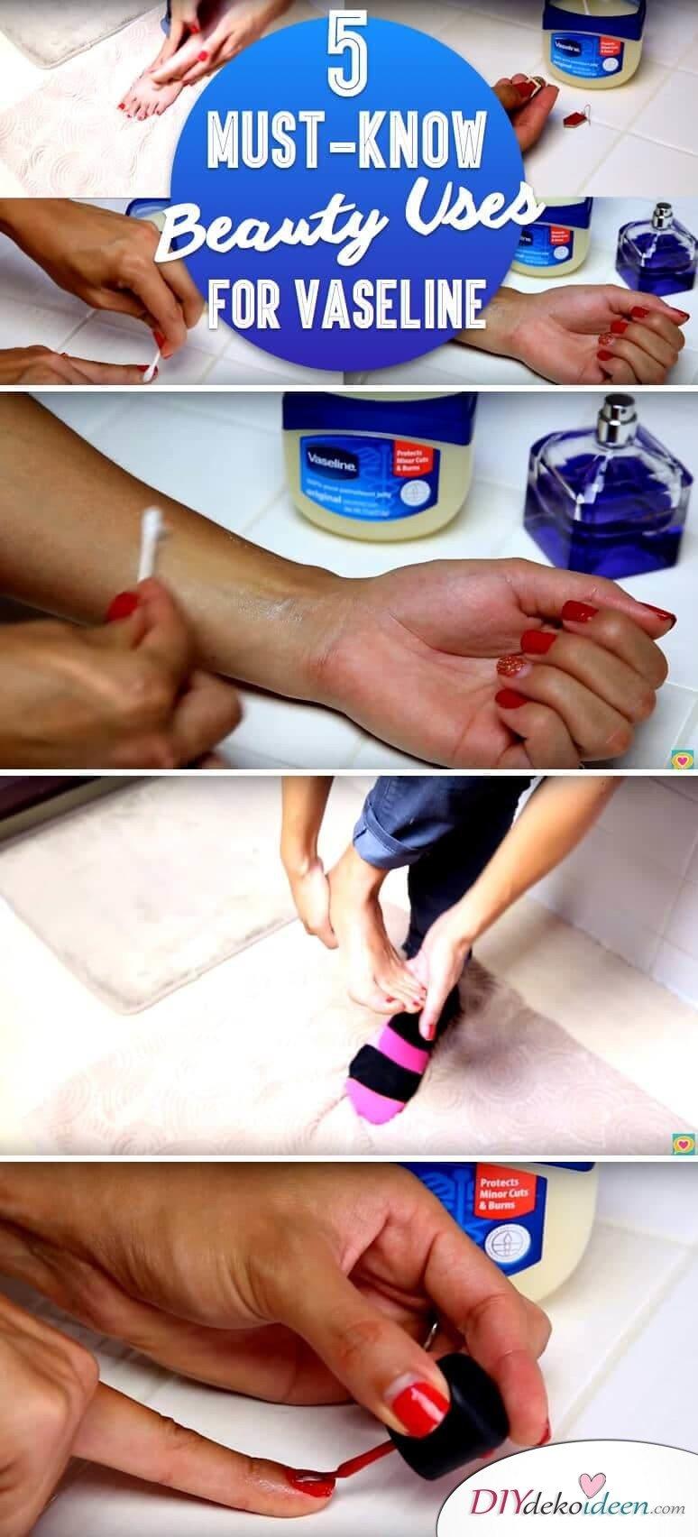 Vaseline Beauty Hacks - Parfüm auf Vaseline sprühen