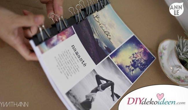 Einzigartige DIY Notizbücher, die Schule und Arbeit verschönern können - Cover binden 2