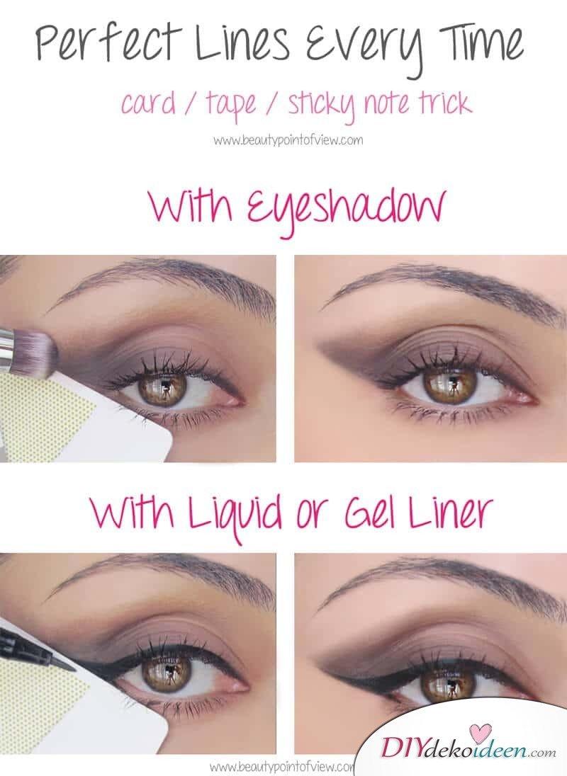 Perfekte Linie leicht gemacht! Make-Up Trick
