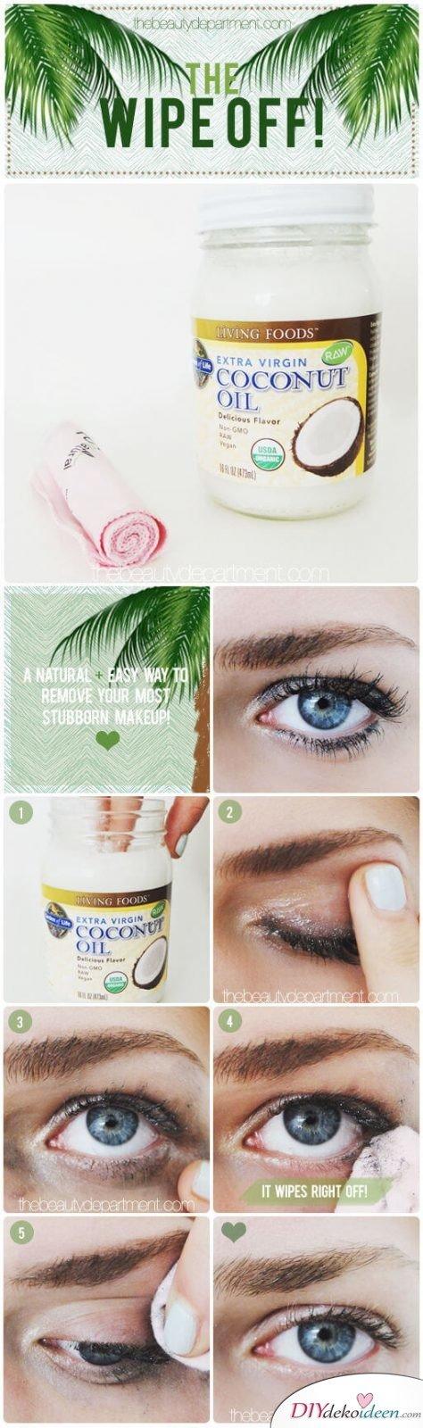 DIY Hausmittel um wasserfestes Make-Up leicht zu entfernen
