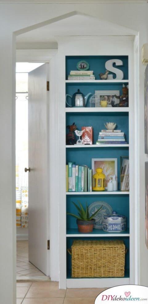 Bücherregal verschönern - Dekoideen