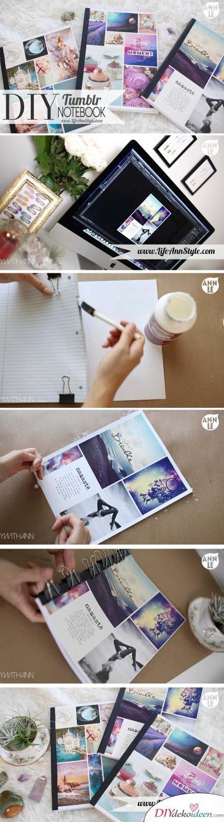 DIY Notizbuch Anleitung Schritt für Schritt
