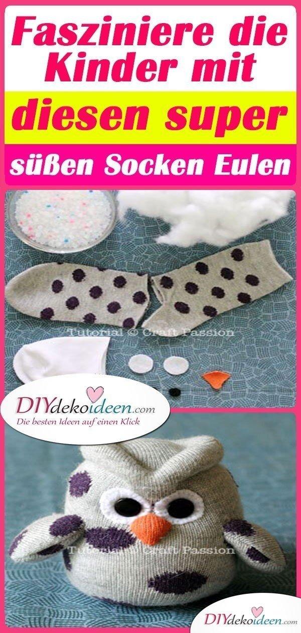 Fasziniere die Kinder mit diesen super süßen Socken Eulen