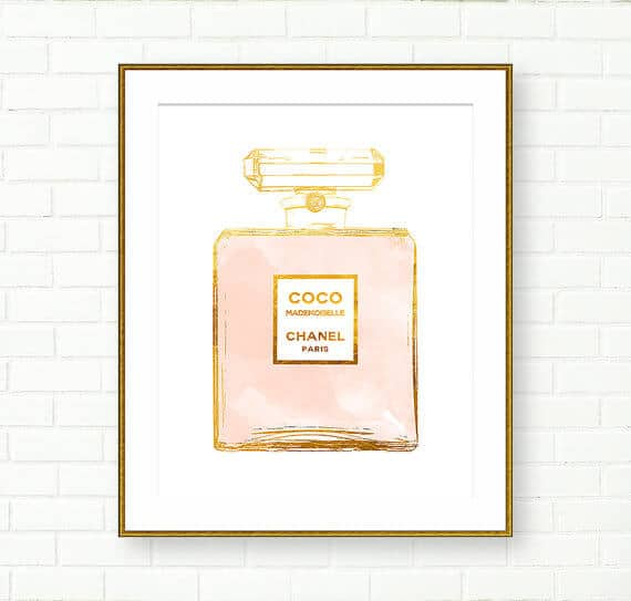 Chanel Bild-Wanddeko selber machen