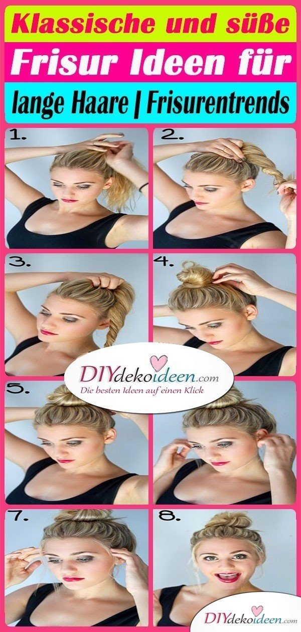 Klassische Und Susse Frisur Ideen Fur Lange Haare Frisurentrends