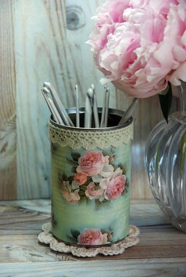 Vintage Behälter aus Konservendosen basteln - DIY Deko Ideen