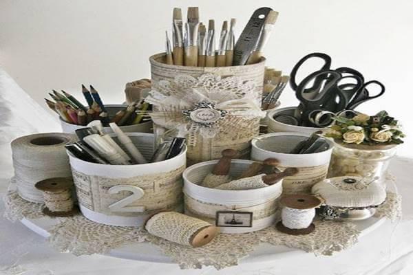Rustikale Behälter selber basteln - DIY Dekoration