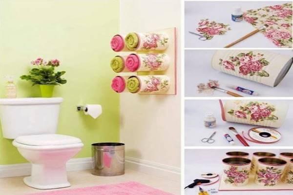 Handtuchbehälter selber basteln - DIY schöne Deko