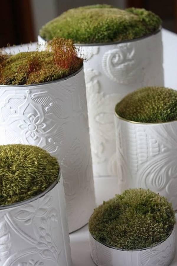 Mini Garten aus Blumentöpfen - Kreative Konservendosen