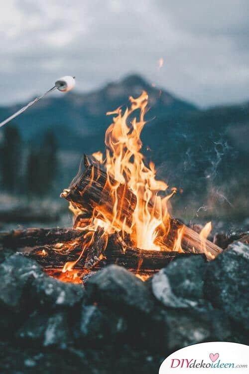 Lagerfeuer Ideen - Frühlingsaktivität mit Freunden