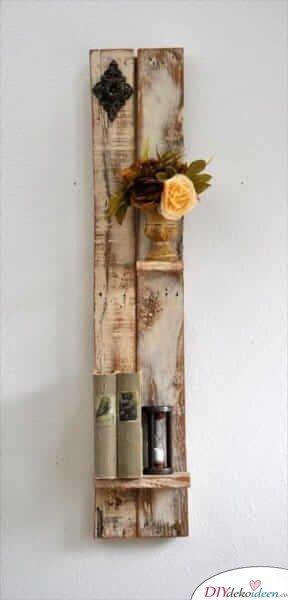 Regal aus Holz gestalten-rustikale Wanddeko