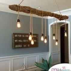 DIY Lampe aus Holz - Deko Ideen mit Lampen