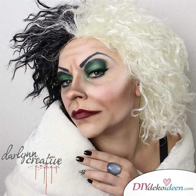 Disney Faschingskostüm-Cruella de Vil Haar und Makeup