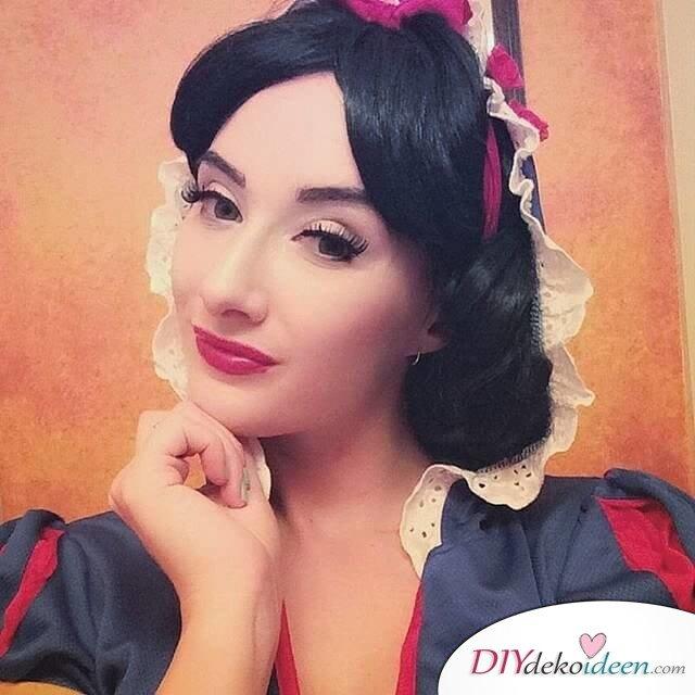 Disney Faschingskostüm-Schneewittchen Kostum, Haar und Makeup