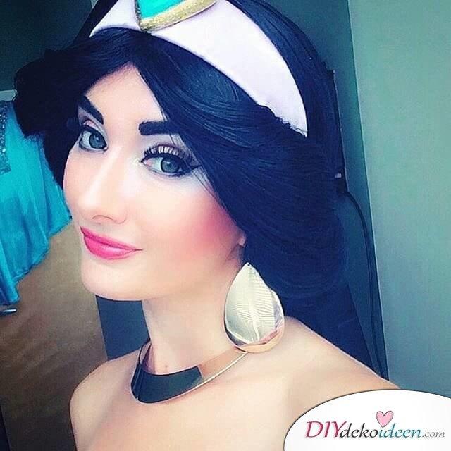 Disney Faschingskostüm-Jasmin aus Aladin Haar und Make-up
