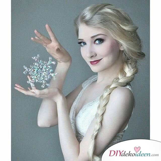 Disney Faschingskostüm-Prinzessin Elsa Haar und Make-up