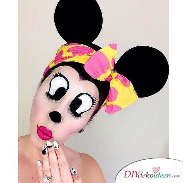 Disney Faschingskostüm-Minnie Maus Harr und Make-up