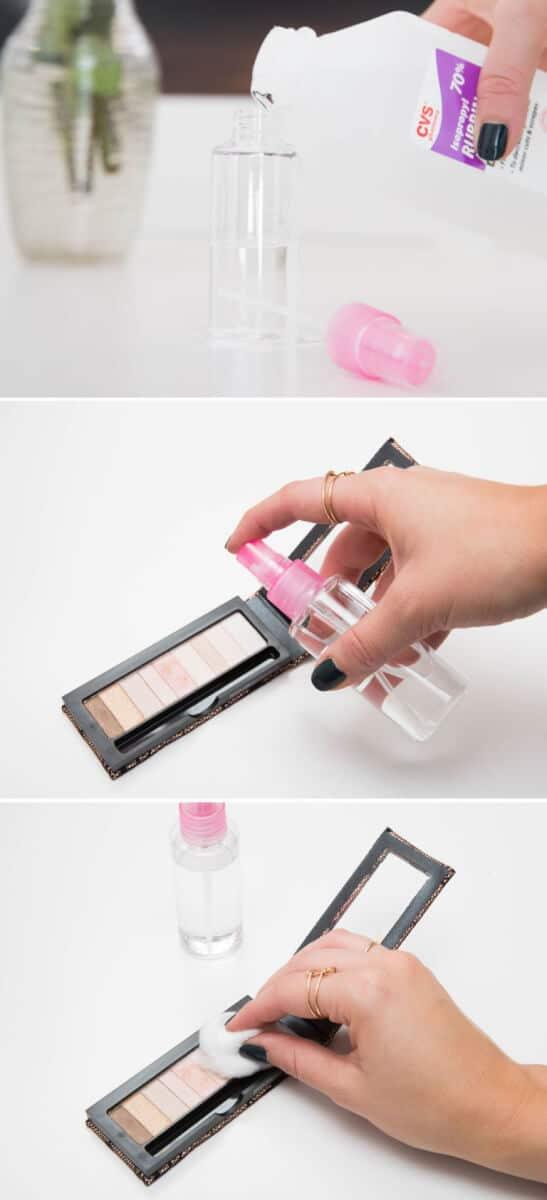 Lidschatten-Palette reinigen und desinfizieren - MakeUp Hacks