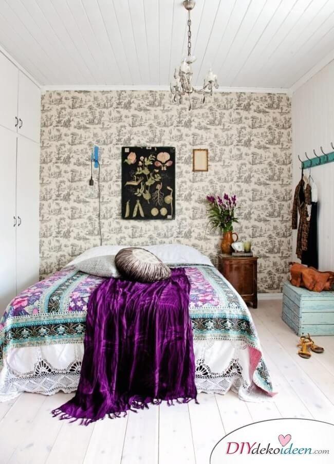 Einrichtungsideen - kreative Wohndeko im Schlafzimmer