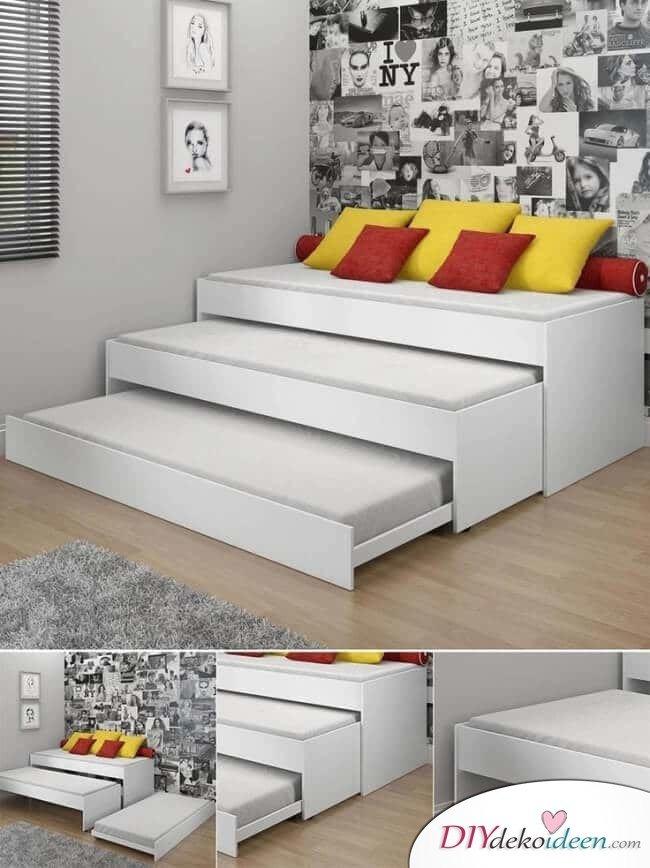 Bett für drei Personen - praktische Schlafzimmereinrichtung