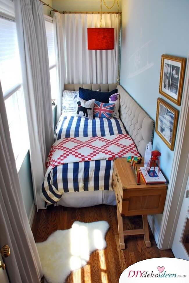 DIY Schlafzimmer mit wenig Platz