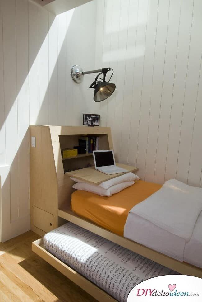 DIY Bett mit mehreren Funtionen - Einrichtung für kleine Schlafzimmer