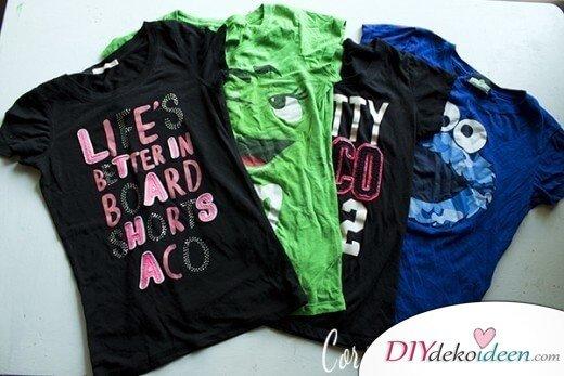 Alte T-Shirts wiederverwenden