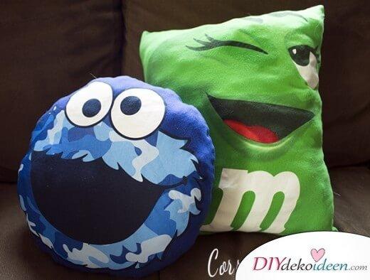 Lustige Kissen für das Kinderzimmer selber machen