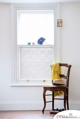 DIY Wohndeko Bastelideen-Türfenster mit Kontaktpapier beschichten