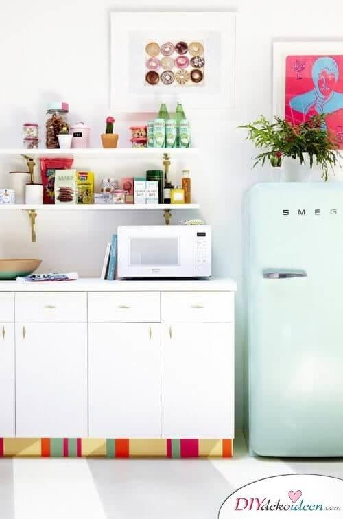 DIY Wohndeko Bastelideen-Küchenschrank mit Kontaktpapier verschönern
