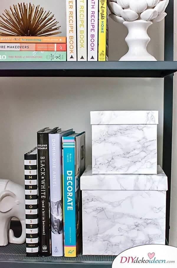 DIY Wohndeko Bastelideen-Kontaktpapier Ideen