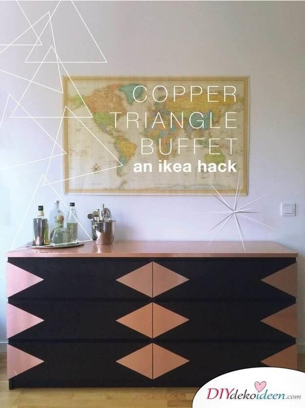 DIY Wohndeko Bastelideen-Ikea Hack mit Kontaktpapier