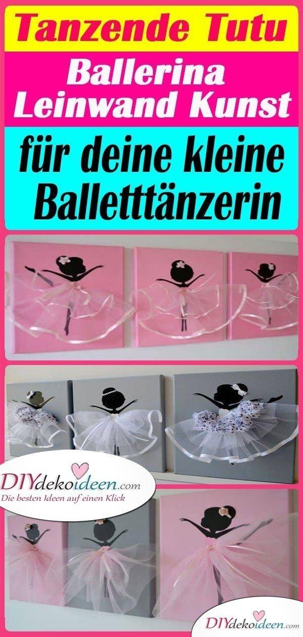 Tanzende Tutu Ballerina Leinwand Kunst für deine kleine Balletttänzerin
