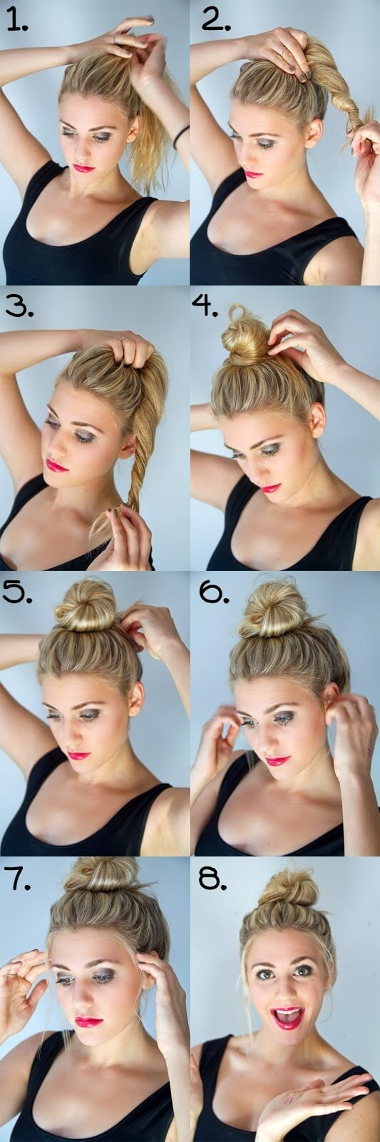 lässiger Haarknoten selber machen