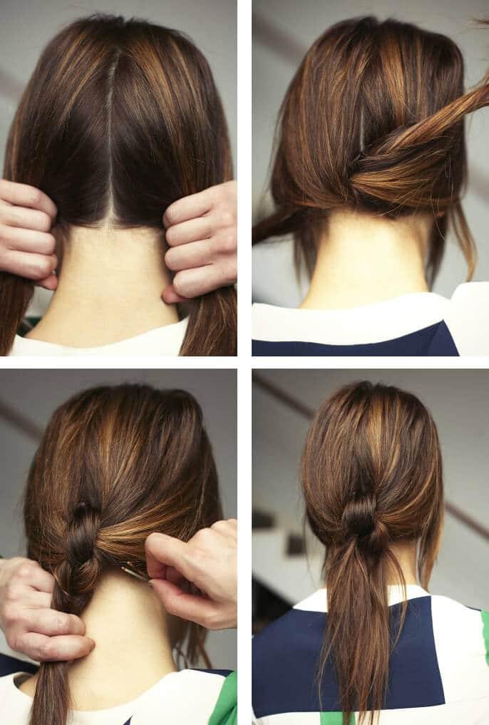 Moderner Knoten - modernes Haardesign