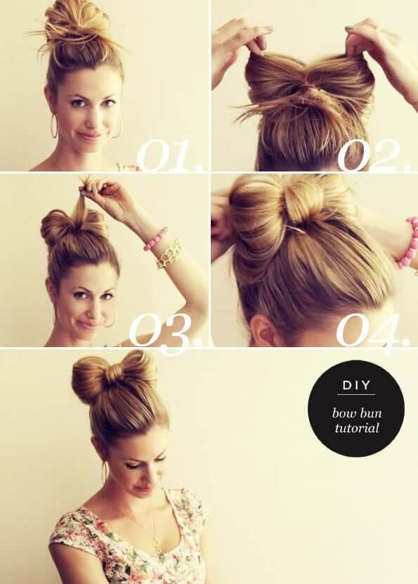 Schleifen-Dutt - lässiger Haarstyle