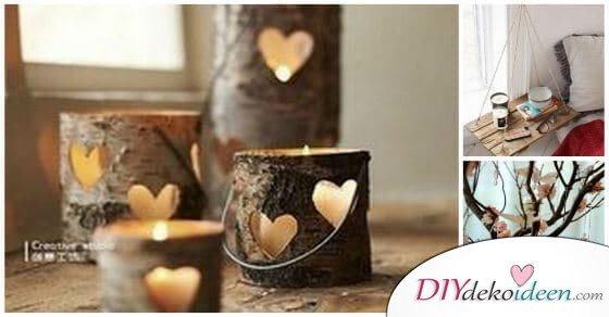 Nicht wegschmeißen! Damit dekorieren! – Kreative Dekorationen aus Holz.