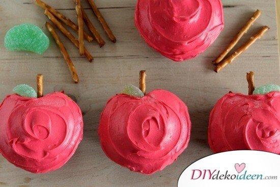 süße apfelförmigen Cupcakes selber machen