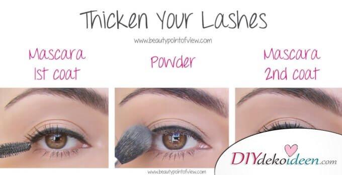 DIY Beauty Tipps für dichte Wimpern