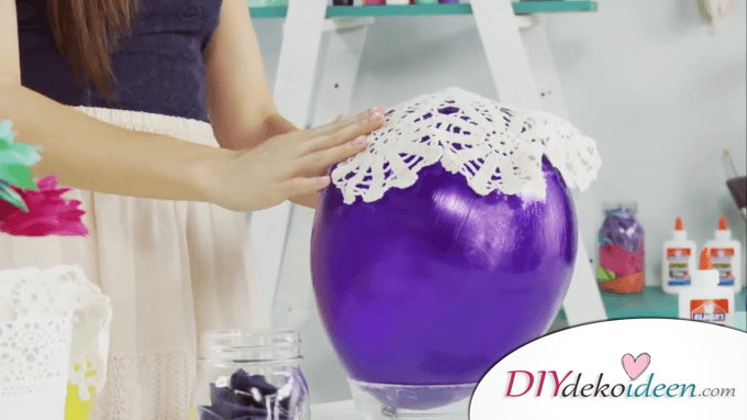 DIY Laterne mit Luftballons basteln - 3. Schritt