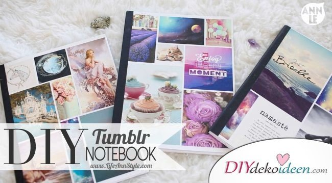 DIY Notizbuch Bastelideen - individuelle Notizbücher