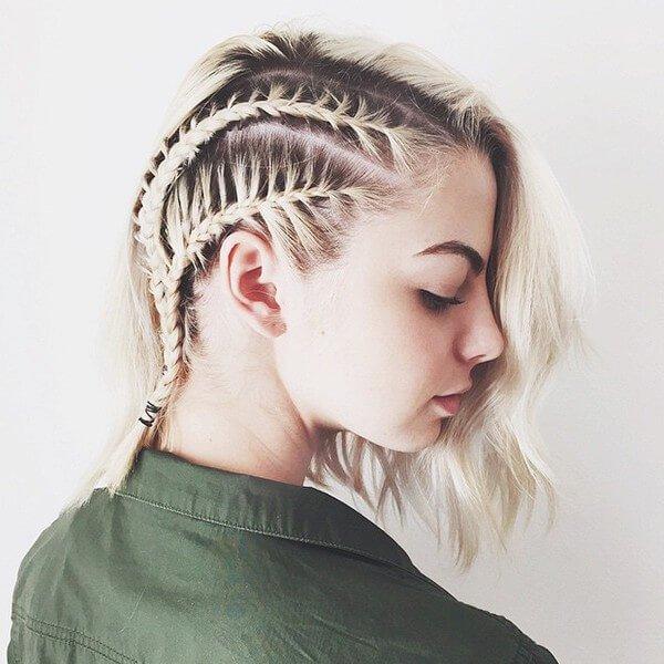 Top Flechtfrisur-Ideen für kurze Haare