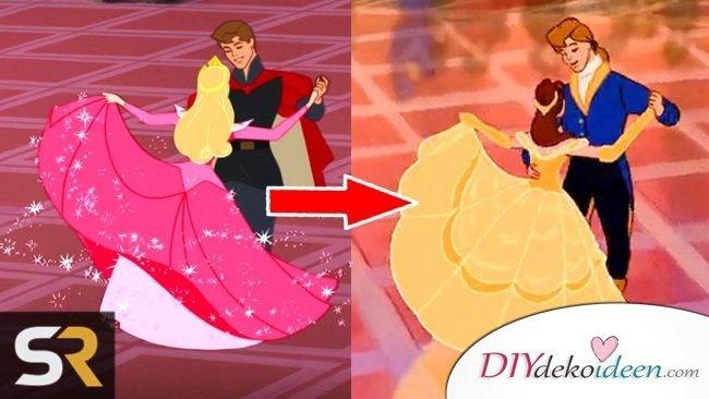 Gestohlene Momente in Disney-ähnliche Szenen in Dornröschen und das Schöne und das Biest