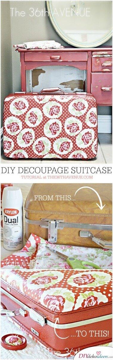 DIY Deko-Ideen - alte Koffer wiederverwenden