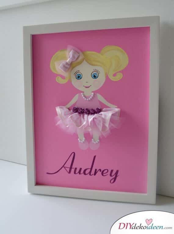 Deko-Ideen für das Kinderzimmer - pinkes Ballerina-Bild
