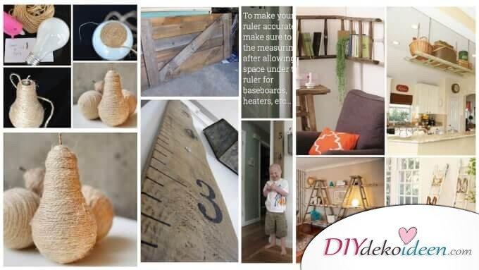 Rustikale Deko Ideen mit Holz und Naturmaterialien